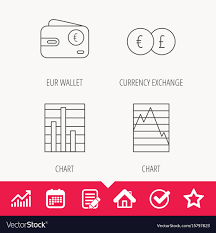 Foreign Exchange Chart Currency Exchange Chart And Euro Wallet Icons