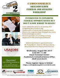 Camo2commerce August Skills Builder Federal Job Seekers Workshop