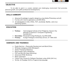 Resume Template Awfulmple Format ...