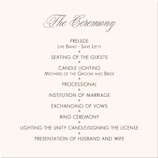 wedding party program templates wedding programs wedding program wording program samples