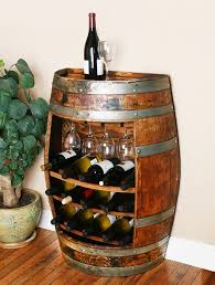 furniture made from barrels. this unique wine barrel rack is made from a napa valley oak cabinet takes up very little room but allows storage for 15 furniture barrels