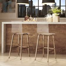 Inspire Q Miles Acrylic Swivel Bar Stools with Back