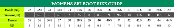 Us Ski Boot Size Chart How To Choose Ski Boots Outdoria Com Au