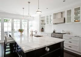 black kitchen cabinets with white marble countertops. White Marble Kitchen Island Awesome Calcutta Countertop Transitional Porchlight Black Cabinets With Countertops I