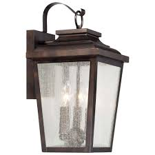 the great outdoors by minka lavery irvington manor 3 light chelsea bronze outdoor wall mount