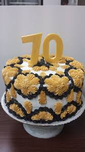 70th Cake Designs Classic Design 70th Birthday Cake In Gold And Black 70 In