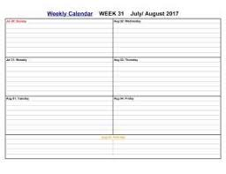 August 2017 Calendar Printable Templates - Calendar Office