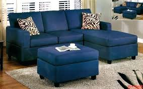 blue sectional sofa navy couch ideal with chaise white piping