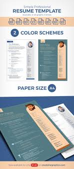 Resume Template Ai Simple Professional Resume Template In Ai Word CDR INDD Format 59