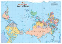 australia upside down world map buy wall map within  besttabletforme