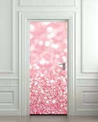 door wall sticker poster bling glitter rose decole 30x79