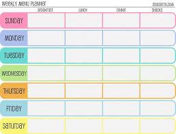 Free Printable Meal Planner Weekly Meal Planner Template