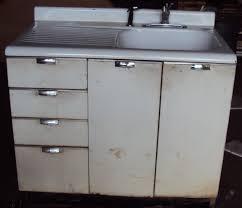 Metal Sink Cabinet Vintage Kitchen Sink Cabinet Enamel Steel W Drawers