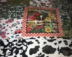 Cow quilt | Etsy & Cow Quilt Adamdwight.com