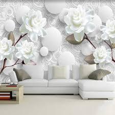 <b>Custom Wallpaper Wall</b> Cloth Modern <b>Creative 3D</b> Diamond Pink ...