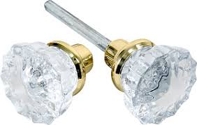 Delighful Crystal Door Knobs Pair Of Fluted With Solid Inside Ideas