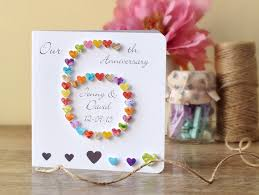6th Wedding Anniversary Card Personalised Custom 6th