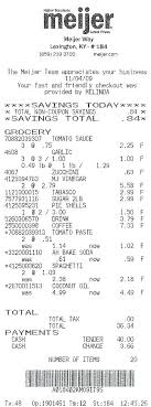 Sample Grocery Receipt Example Of Return And Refund Policy