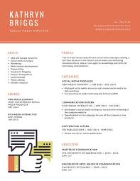 Orange Icon Creative Resume