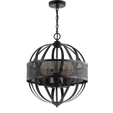 safavieh colby 16 75 in black gold hardwired single orb pendant