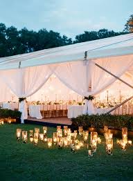 wedding tent lighting ideas. Candles Outside Tent Wedding Lighting Ideas