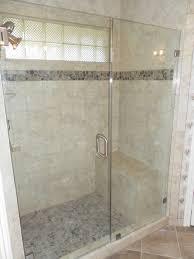 inline frameless shower