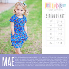Size Chart Lularoe Maxi Sizing Closer To The Heart Creations