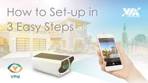 VPai Smart Security <b>Solar IP</b> Camera: How to Set-up in 3 EASY ...