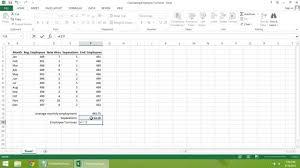 excel 2016 tutorial how to calculate employee turnover