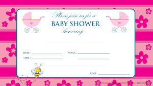 Free Printable Baby Shower Invitations For Girls Free Printable Pink Baby Shower Invitation Free Printable
