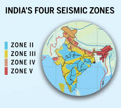 Map showing the seismic zones in india. Should Delhi Be Worried About A Major Earthquake Times Of India