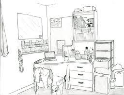 Room Drawing. My Desk.