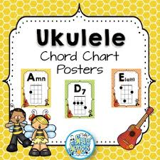 Chord Charts For Kids Ukulele Chord Chart Posters Busy Bee Kids