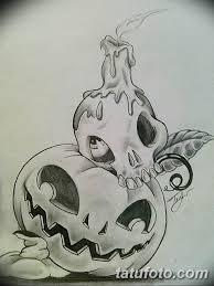 эскиз тату свеча и череп 12082019 024 Sketch Tattoo Candle And