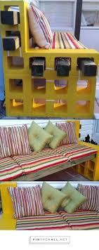concrete block furniture. Cinder Block Furniture Backyard Best Concrete And Ideas Images Image On Astounding .
