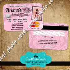 Credit Card Party Invitations Juicy Couture Party Card Invitations Plastic Card Credit Invites