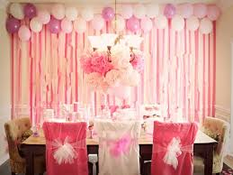 Small Picture Birthday Party Decoration Ideas At Home Finest Enchanting Pink