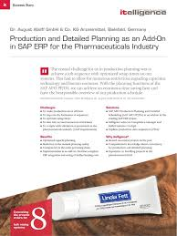 Production and Detailed Planning as an Add-On in SAP ERP for the  Pharmaceuticals Industry | Sap Se | Enterprise Resource Planning
