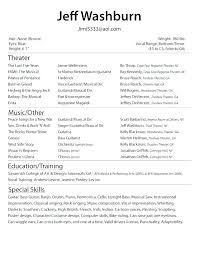 Acting Resume Sample Custom Theatre Resume Sample Acting Resume Template For Free Acting Resume