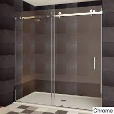 480 lesscare teempered glass semi frameless shower door chrome regarding impressive bathroom glass sliding shower