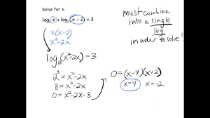 solving exponential logarithmic equations algebraically