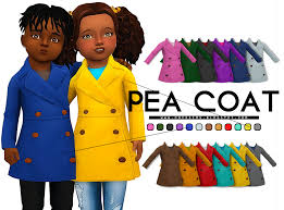 the child pea coat that came with seasons now base game compatible and converted for toddlers you ll find this jacket as all the original preset colors
