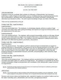 legal secretary resume sample executive secretary job description resume  resume template secretary job description resume resume