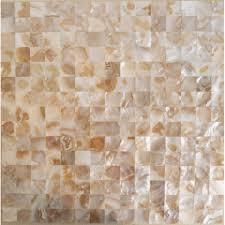 freshwater shell mosaic tiles wall mother of pearl tile backsplash kitchen patterns designs natural seashell floor