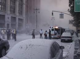 world trade center neil degrasse tyson flames completely 11 2001 one hour after both towers had collapsed a thick layer