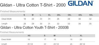 Gildan Youth Size Chart Gildan Ultra Cotton Size Chart Youth Best Picture Of Chart