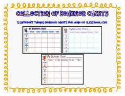 Preschool Behavior Charts Worksheets Teaching Resources Tpt