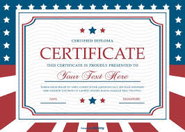 patriotic invitations templates patriotic style certificate template download free vector art