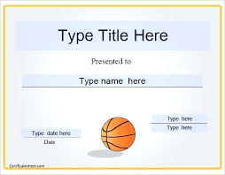 Microsoft Award Templates Basketball Award Templates Word Certificate Free Premium