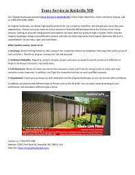 Fence Service In Rockville Md By Original Hardscape Issuu
